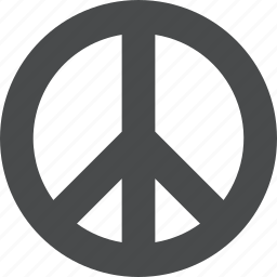 community, hippy, love, no war, peace, sign icon