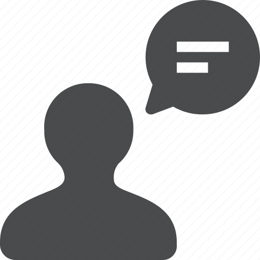 account, chat, man, person, talk, user icon