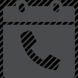 calendar, call, meeting, phone, schedule icon
