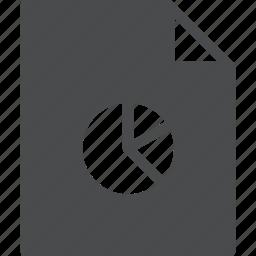 chart, document, file, graph, pie, report icon