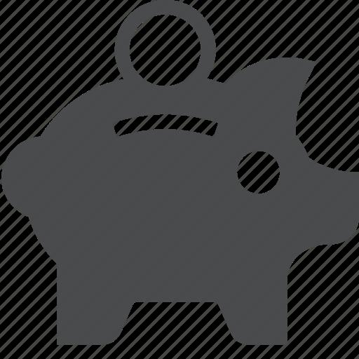 bank, piggy, retirement, save, savings icon