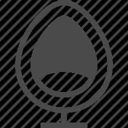 chair, modern, pod, sofa icon