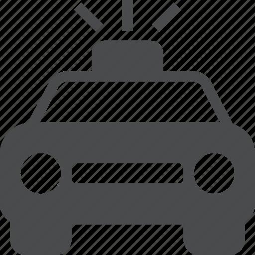 car, cop, officer, police, siren icon