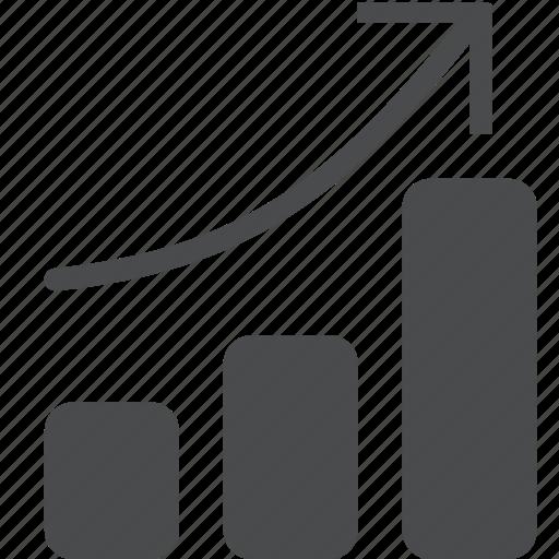 analysis, bar, graph, growth, positive, report, statistics icon