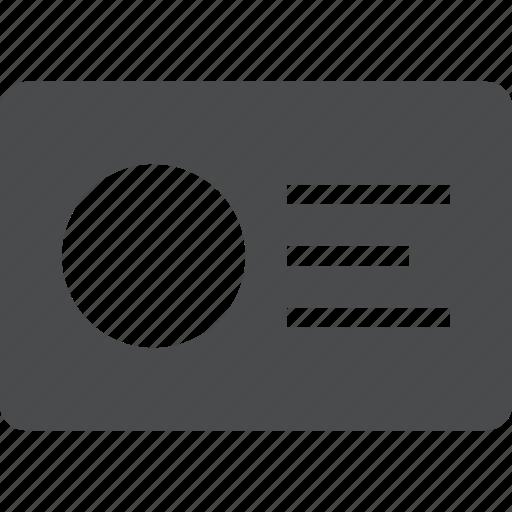 account, badge, card, id, identification, profile icon