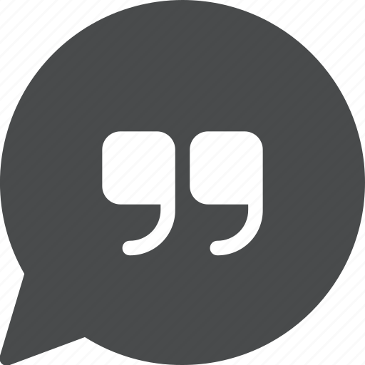 bubble, chat, quote, speech icon