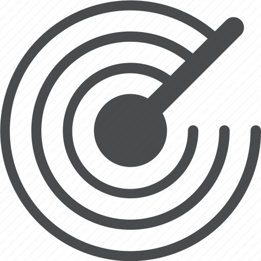 gps, location, radar, search, signal icon