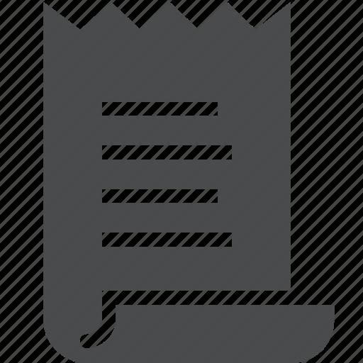 bill, invoice, receipt, voucher icon
