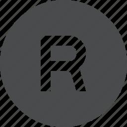 registered, trademark icon