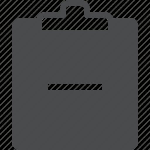 clipboard, delete, remove icon