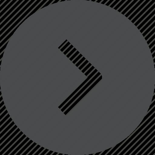 chevron, circle, next, right icon