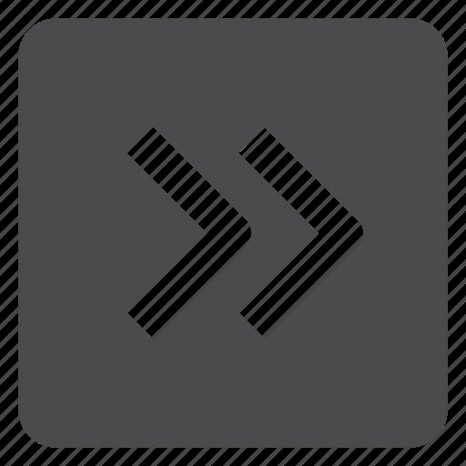 chevrons, next, right, square icon