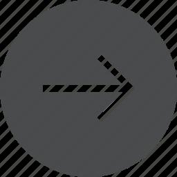 circle, forward, next, right icon
