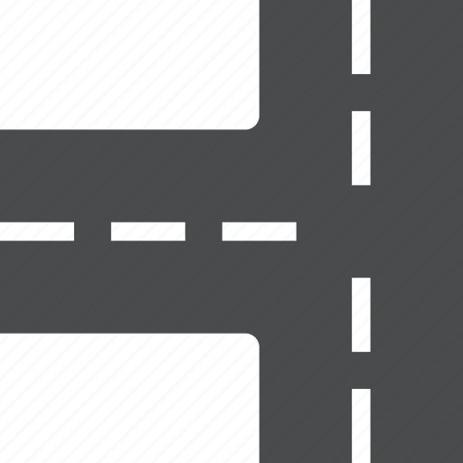intersection, road icon