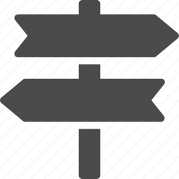 direction, guide, navigation, road, route, sign icon