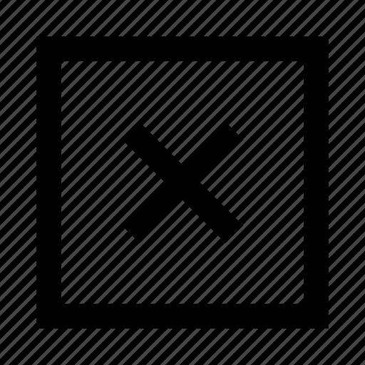 cancel, close, cross, delete, eraser, remove, trash icon