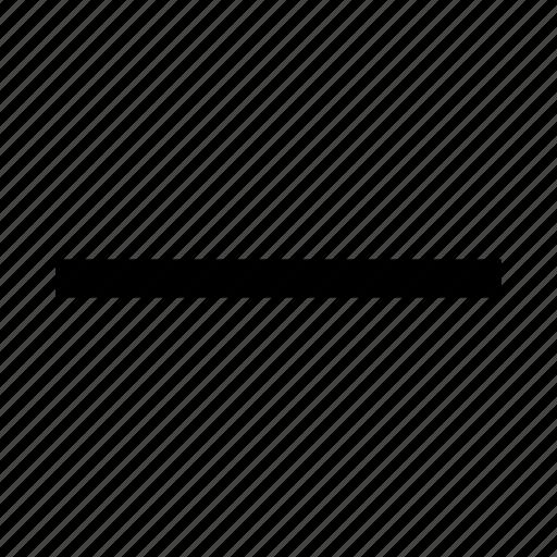 cancel, close, delete, less, minus, remove, sign icon