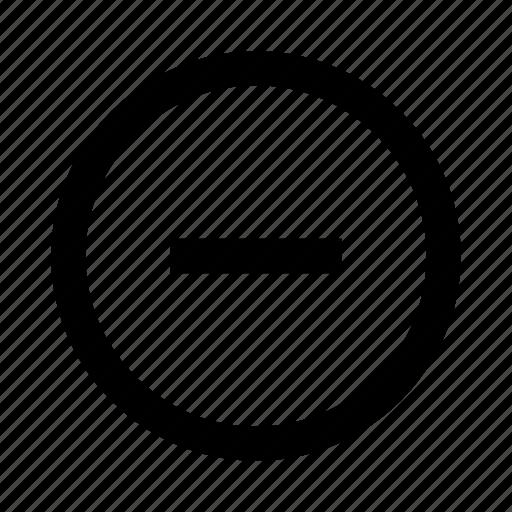 cancel, close, delete, minus, remove, rounded, ui icon