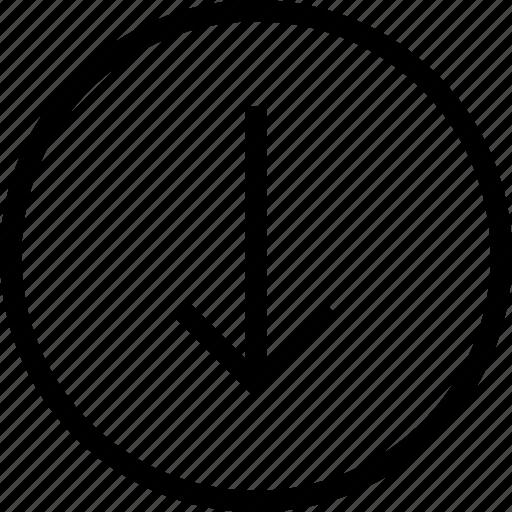 arrow, arrows, circle, down, ios optimized, mac desktop, mac os x icon