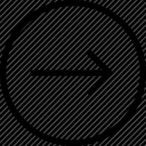 arrow, arrows, circle, ios optimized, mac desktop, mac os x, right icon
