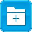 add, data, file, folder, storage icon