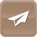 airplane, education, eml, message, send icon