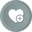 add, favorites, heart, love, romance, wedding icon