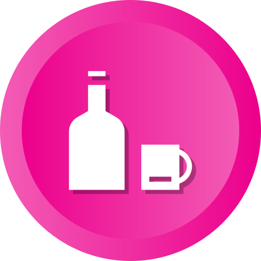 Alcohol, bottle, cup, drink, juice, water, wine icon - Free download