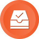 archive, check, document, folder, ml, ok, success icon