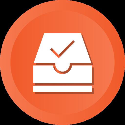 Archive, check, document, folder, ml, ok, success icon - Free download