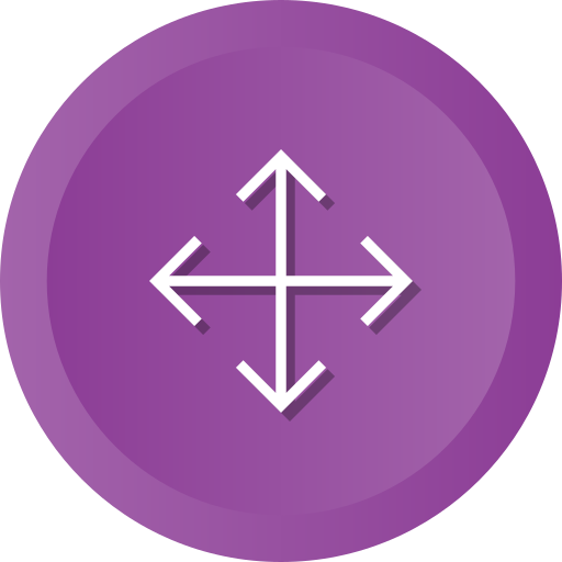 Arrows, crossroads, direction, expand, full, orientation, screen icon - Free download