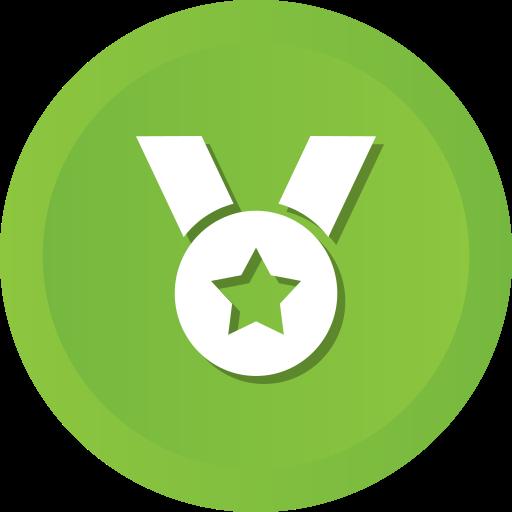 award, medal, prize, ribbon, star, winner icon