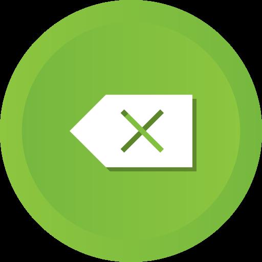 backspace, clean, clear, delete, erase, remove icon