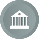 bank, building, estate, government, house, panteon, real icon