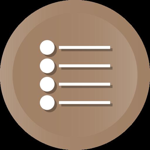 bullet, bullets, items, list, menu, unjustified icon