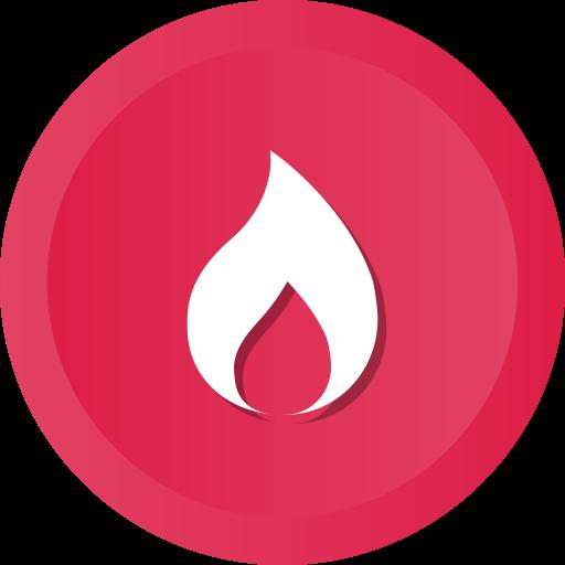Burning, danger, fire, burn, hot, flame icon