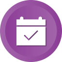 calendar, check, date, event, ok icon