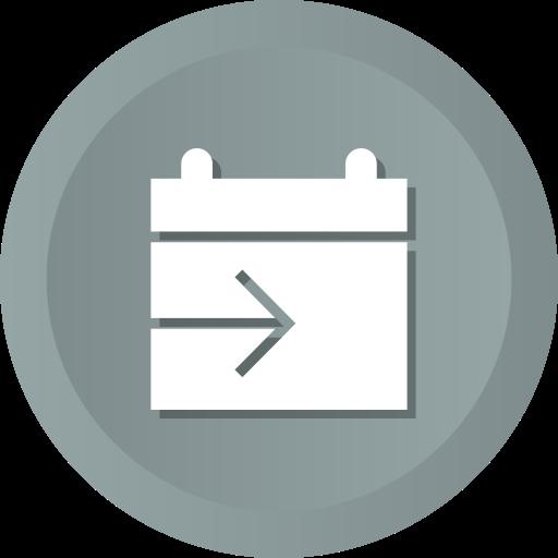calendar, date, schedule, send, share icon