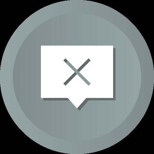 bubble, chat, comment, eml, message, ml, remove icon