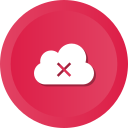 cloud, data, error, remove, storage, warning icon