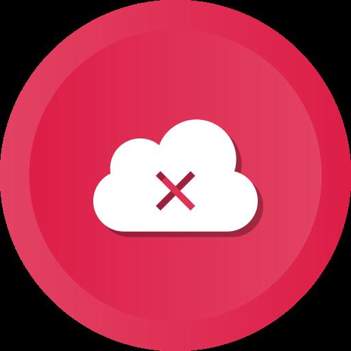 Cloud, data, error, remove, storage, warning icon - Free download