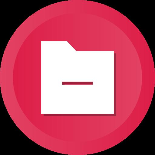 delete, exit, folder, minus, remove icon