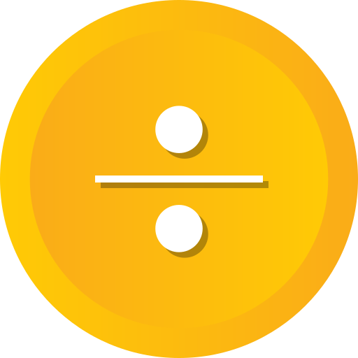 Divide, division, dote, square icon - Free download