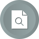contract, document, file, paper, search icon