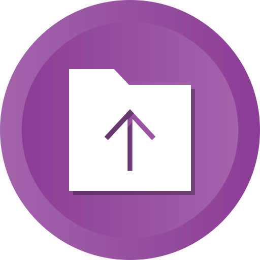 Arrow, arrows, folder, up, upload, uploading icon - Free download