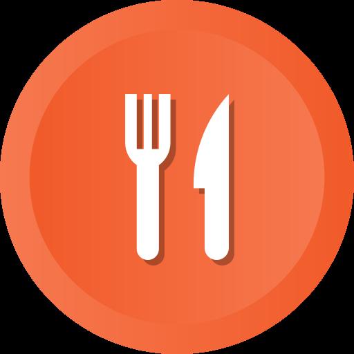 food, fork, kitchen, knife, meanns, restaurant icon