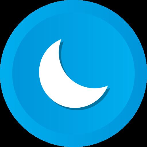 astronomy, moon, nature, night, phase, sleep icon