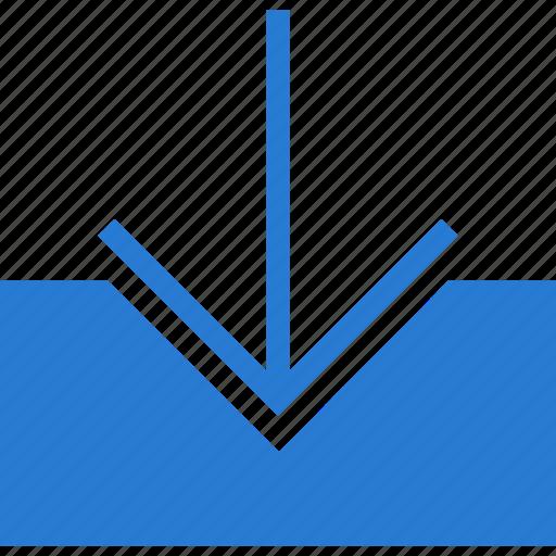 arrow, arrows, down, download, downloading, guardar, inbox, save icon