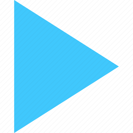 arrow, film, movie, play, player, start, video icon