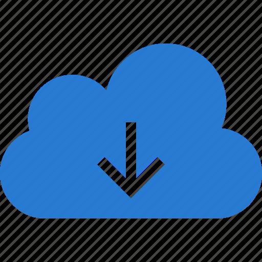 cloud, data, download, downloading, guardar, save, storage icon
